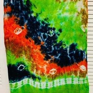 American Apparel tie dyed scarf,sarong, walhanging